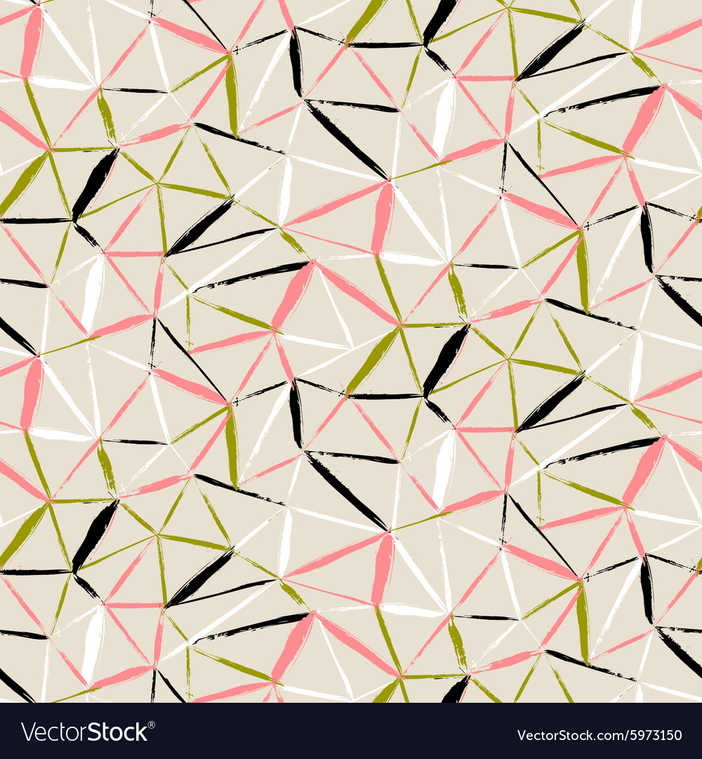 Hand painted geometric pattern vector