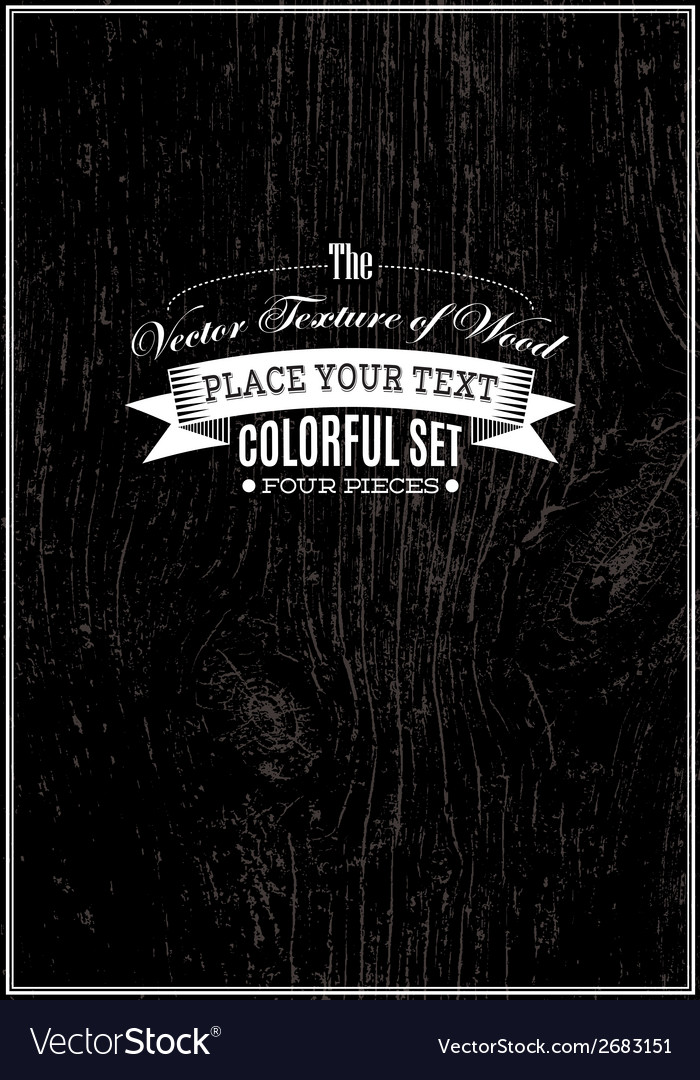 Black background with wood texture vector