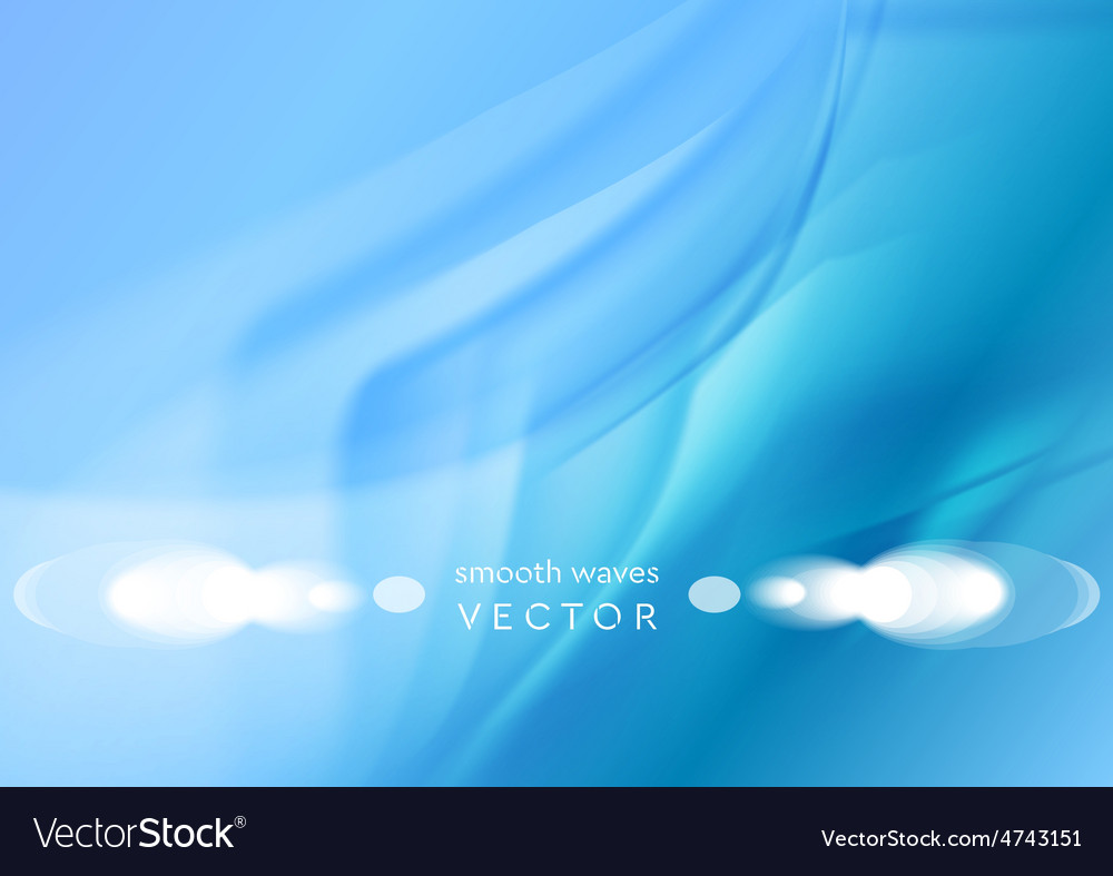 Futuristic smooth waves abstract bright background vector