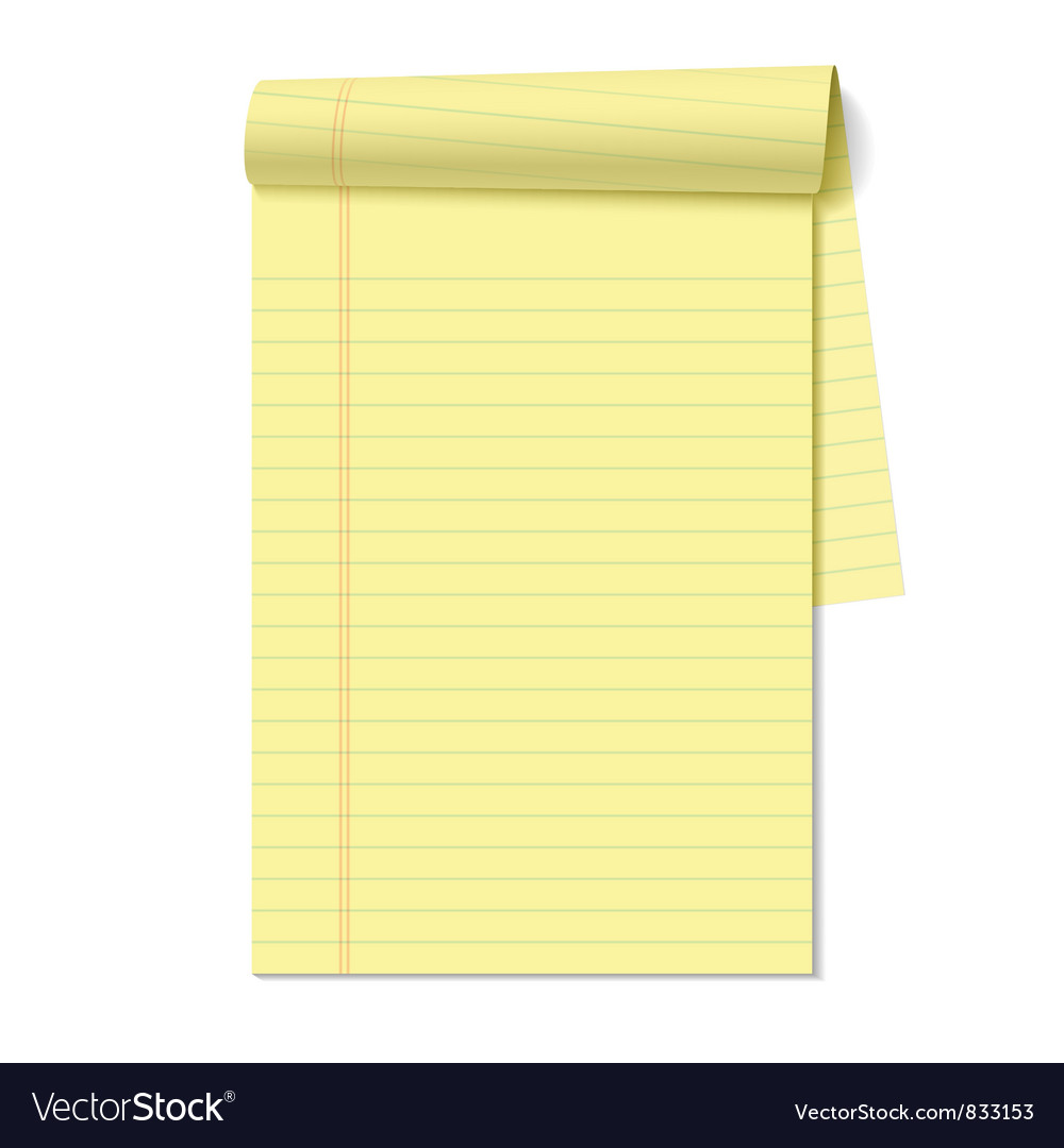 Blank legal pad vector