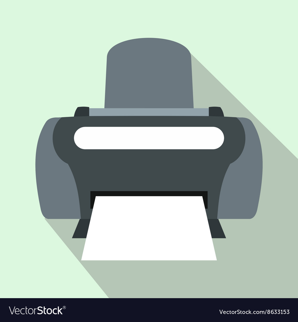 Photo printer icon flat style vector