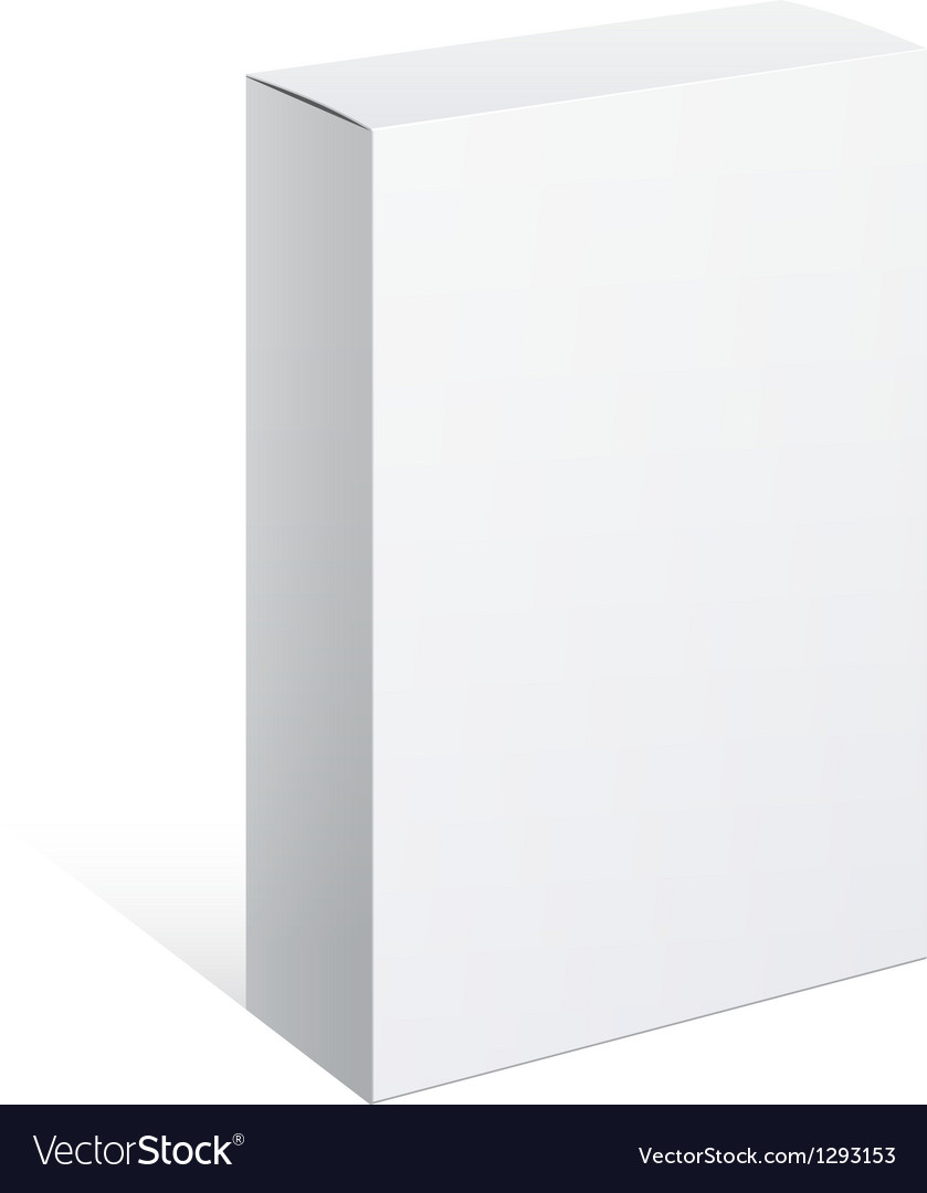 Realistic white box for software device vector