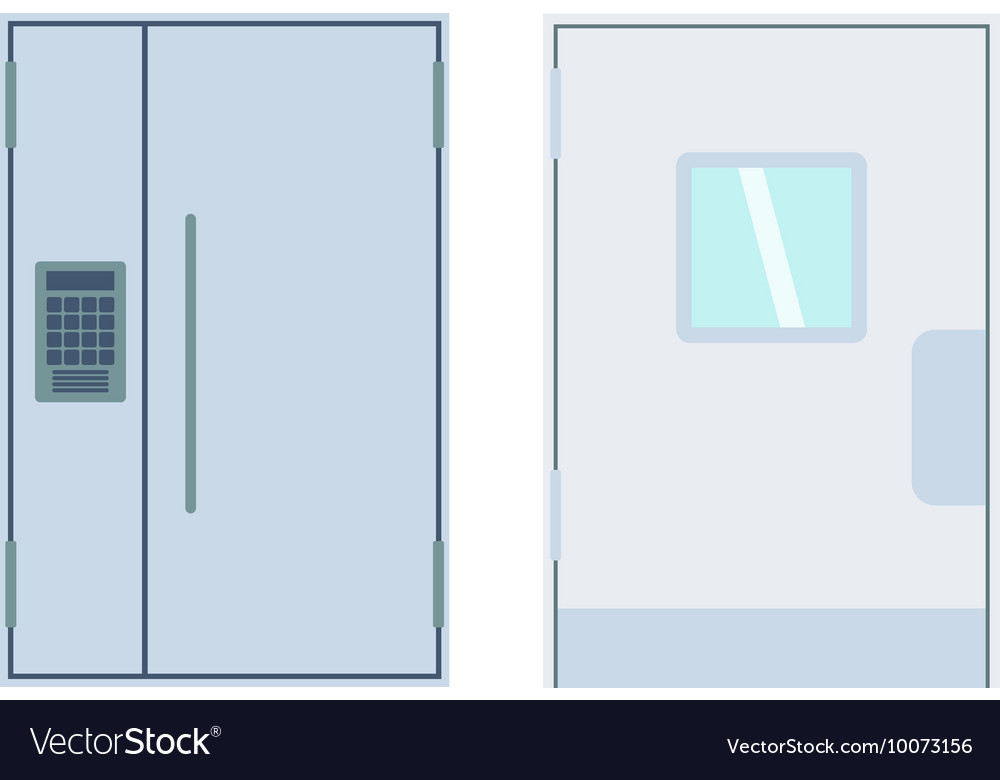 Doors isolated vector