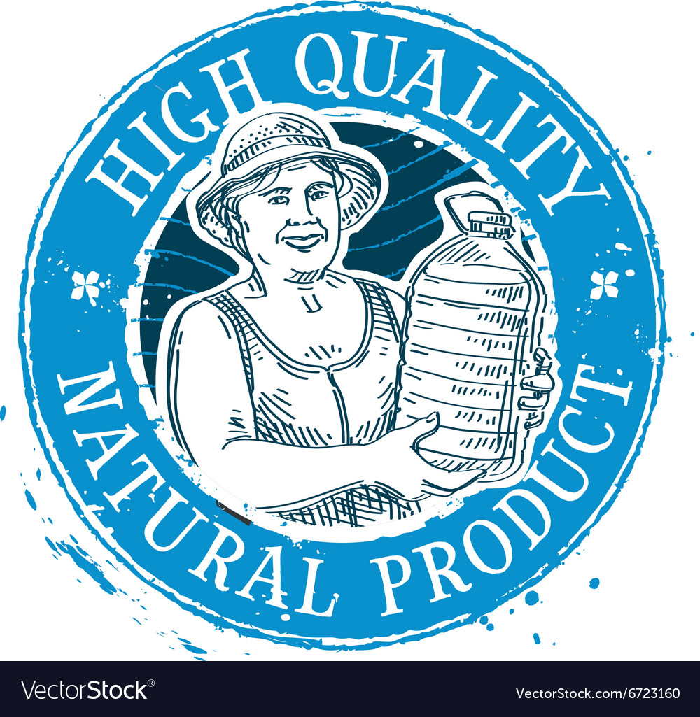 Drinking water logo design template bottle vector