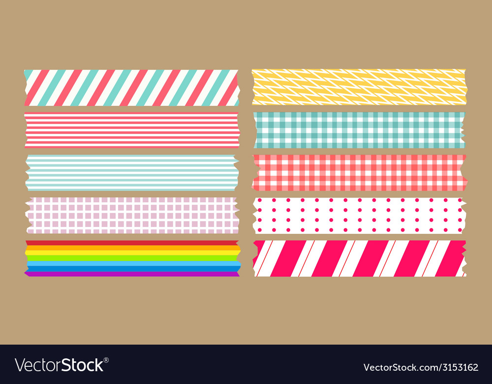 Masking tape variety set vector