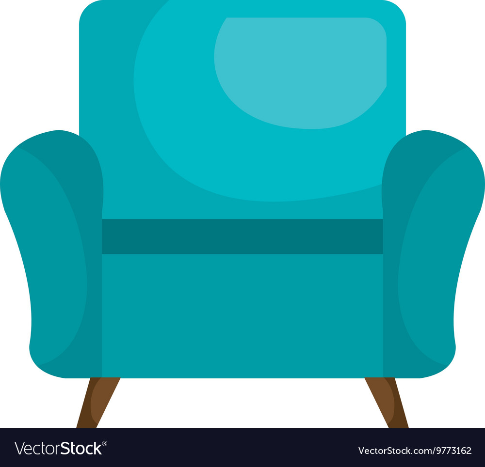 Sofa chair furniture isolated flat icon vector