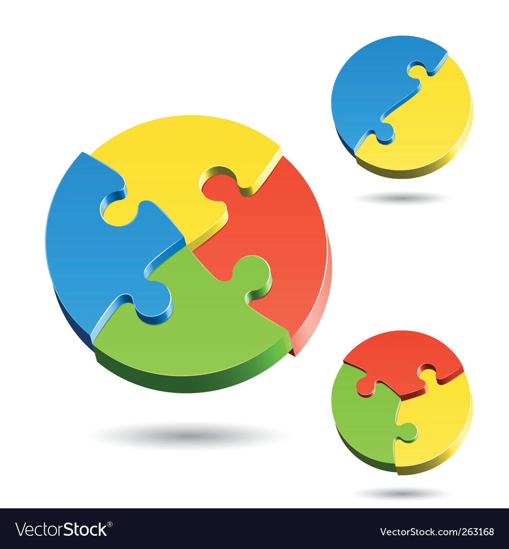 Shapes of jigsaw puzzle vector