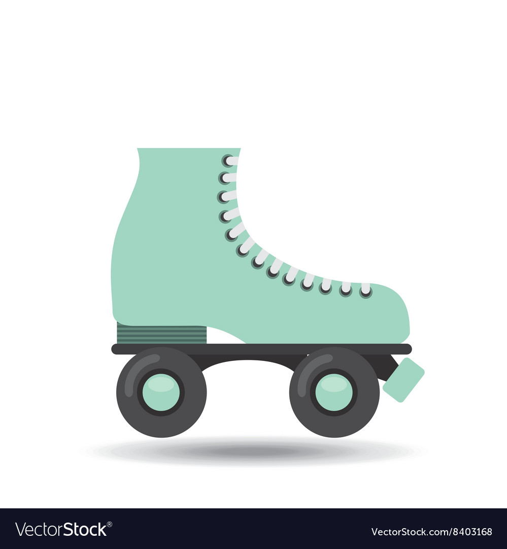 Skate retro design vector