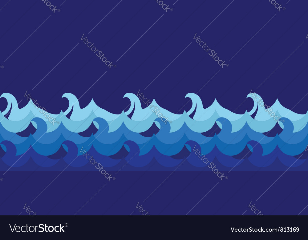 Cartoon seamless waves vector