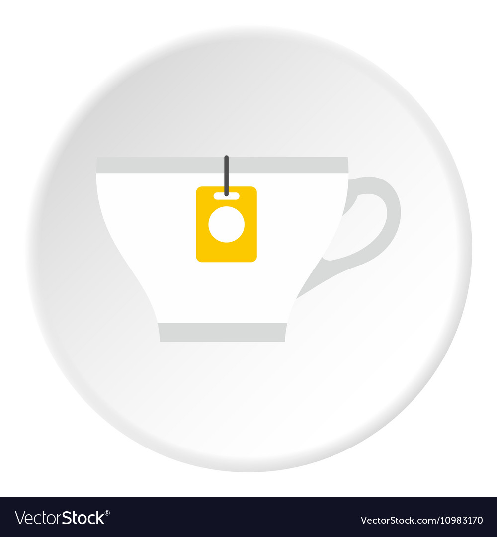 Cup of tea icon flat style vector