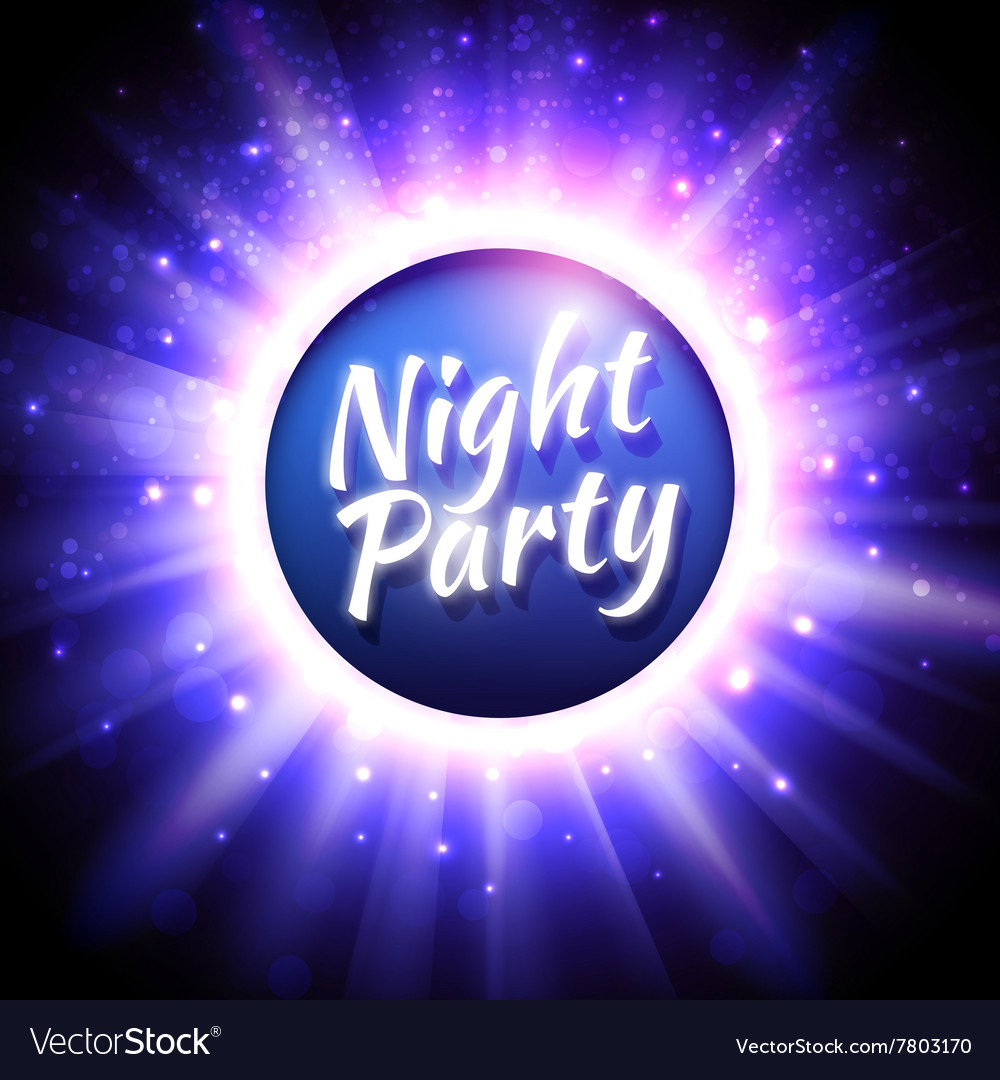 Flyer template for night party vector