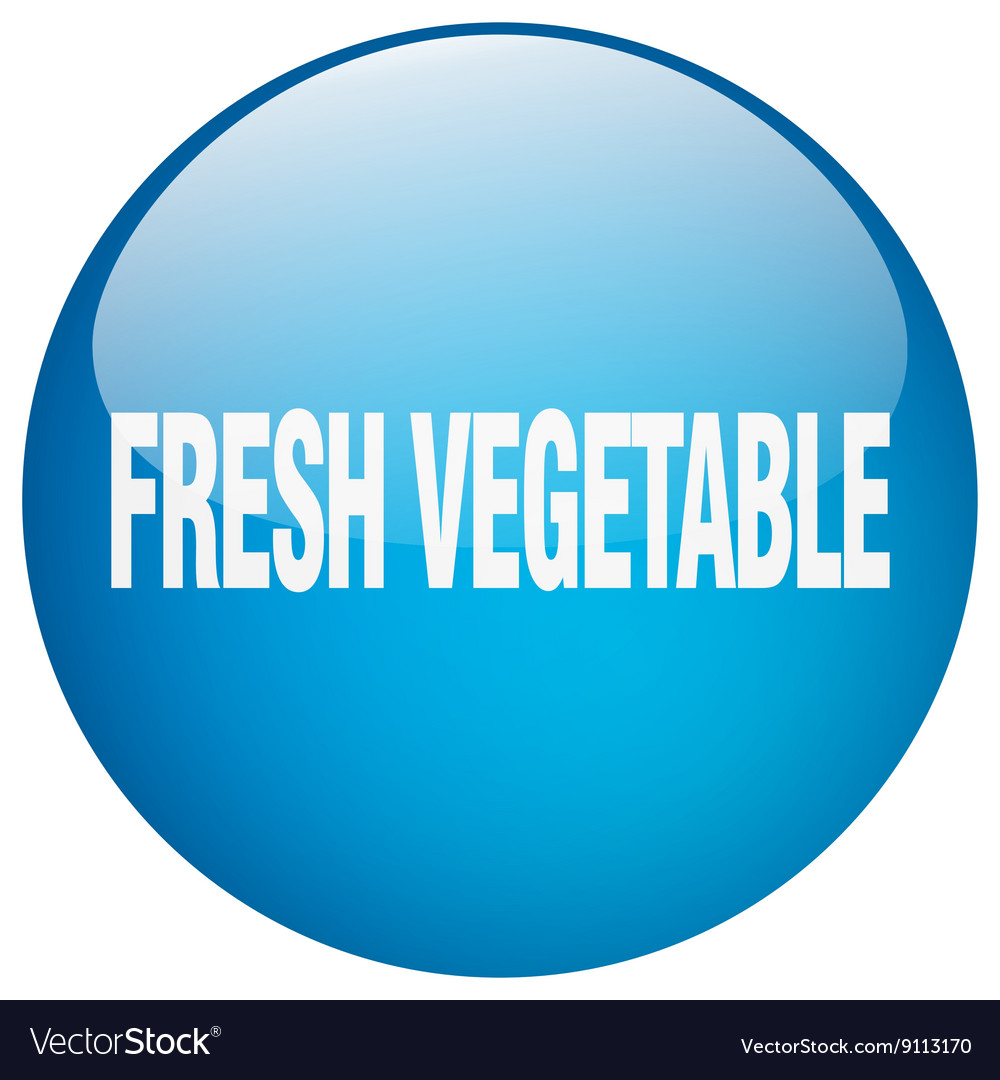 Fresh vegetable blue round gel isolated push vector