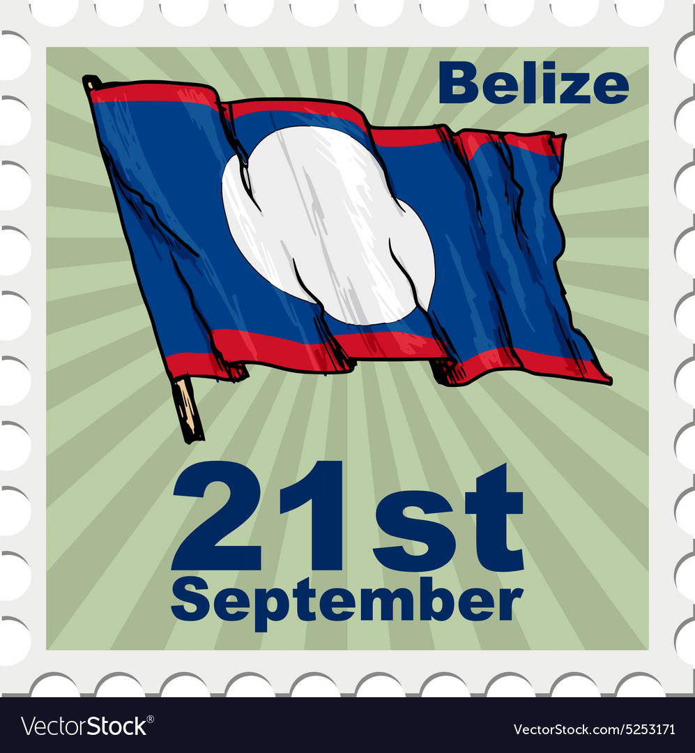 National day of belize vector