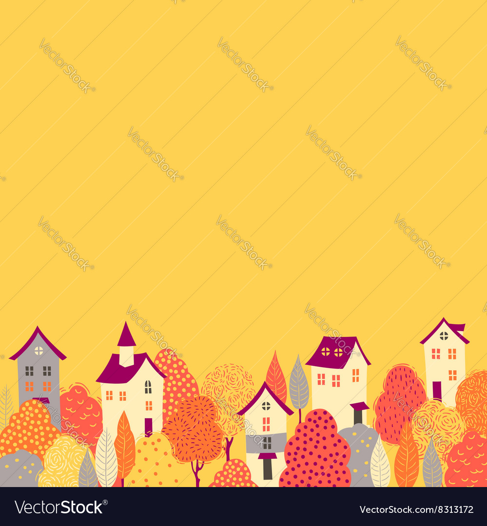 Autumn background down vector