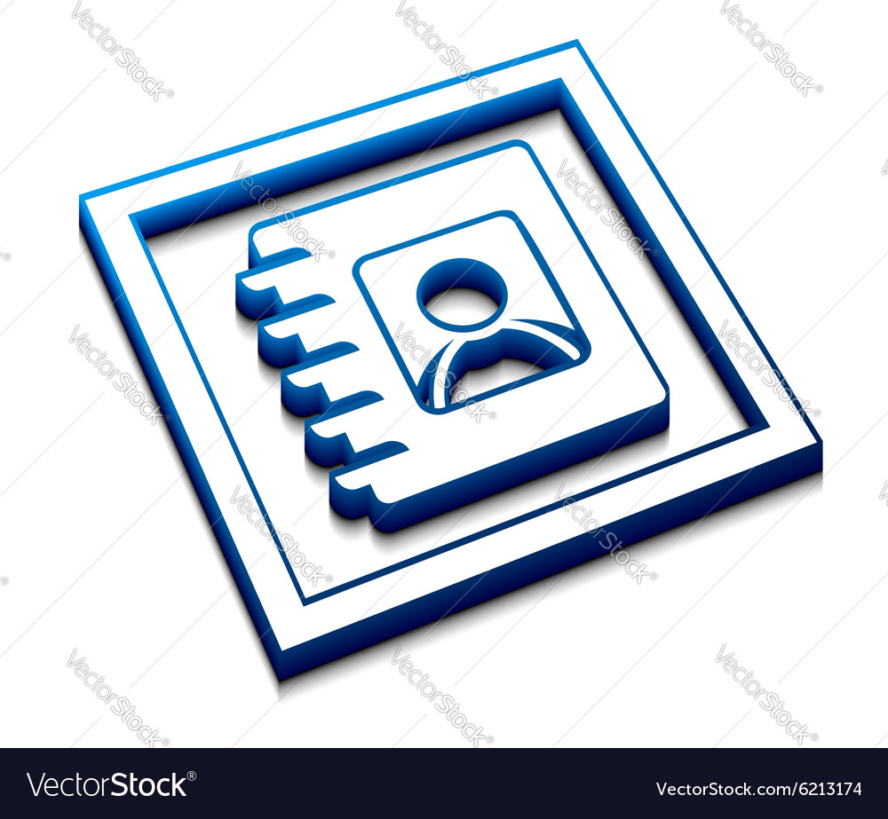 Directory web icon vector