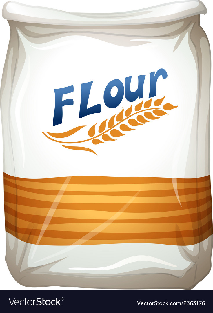 A packet of flour vector