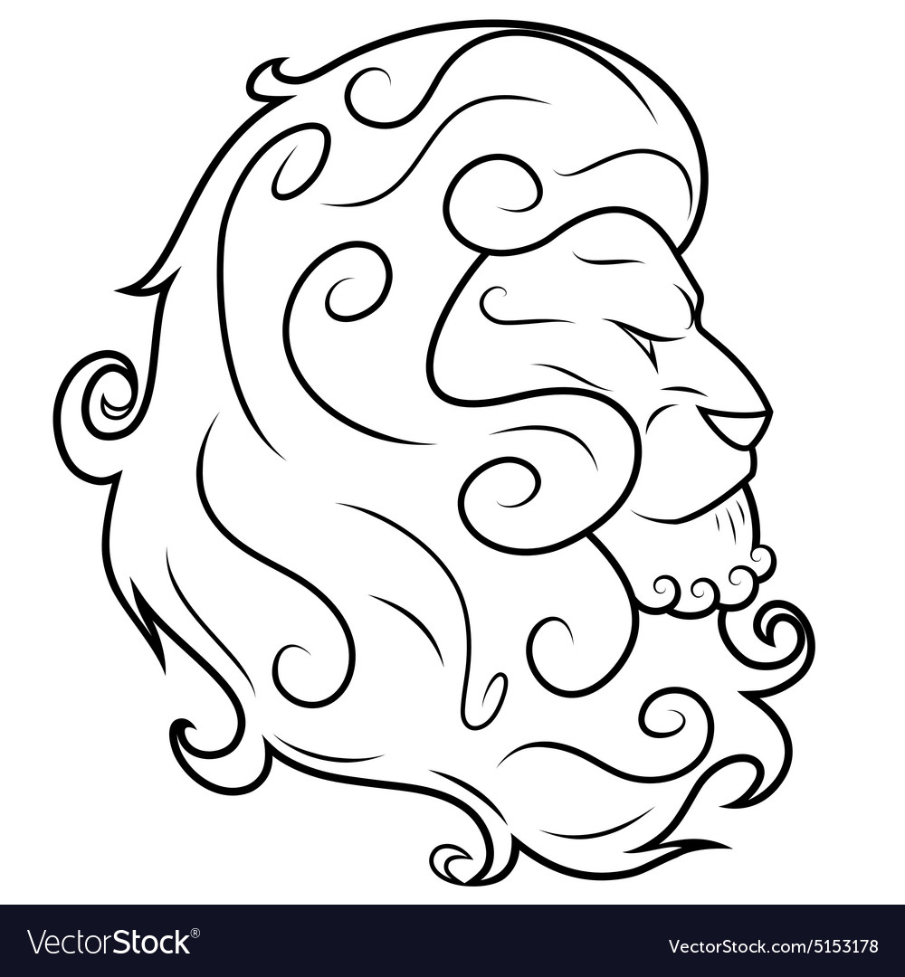 Lion head 3 vector