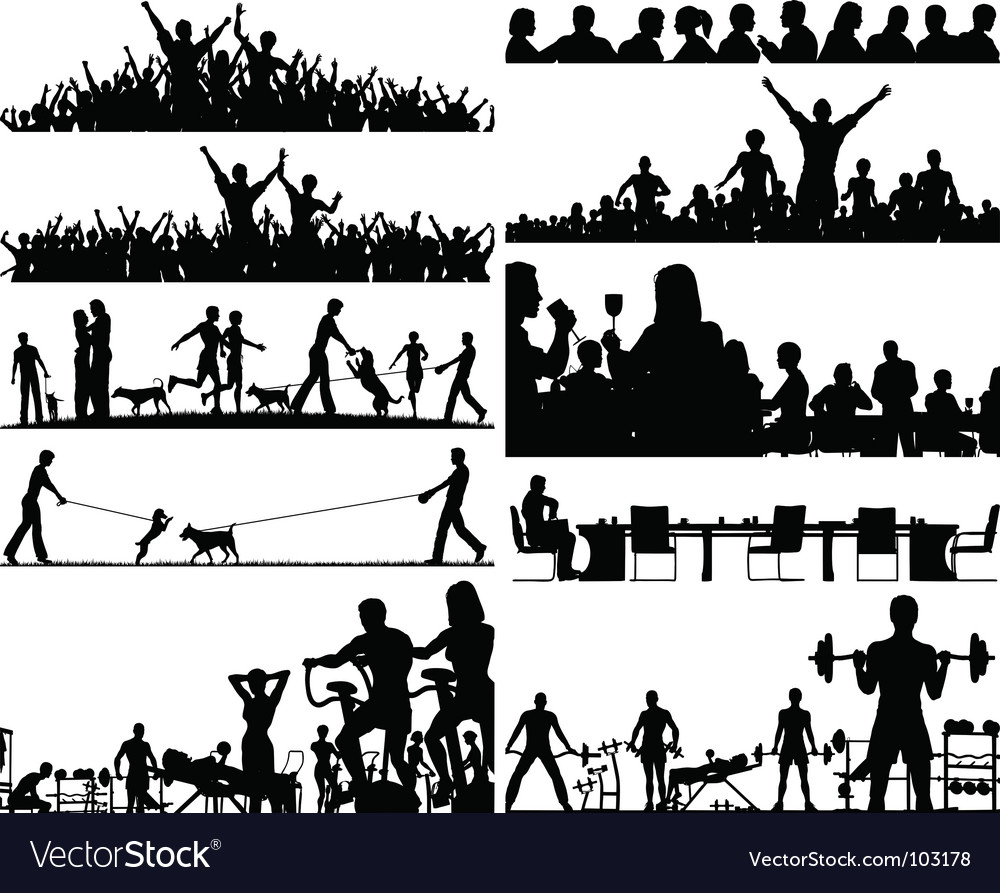 People foregrounds vector