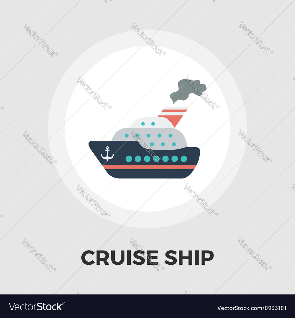 Cruise ship flat icon vector