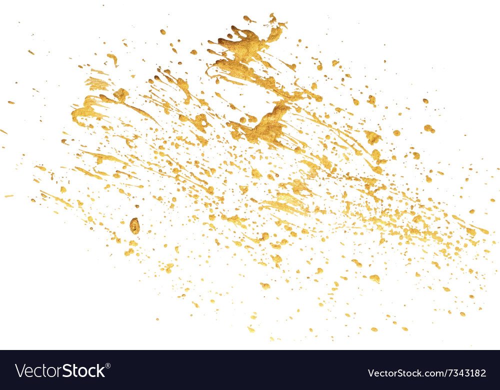 Acrylic spot blotch on white background vector