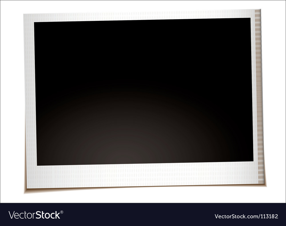 Landscape instant photo vector