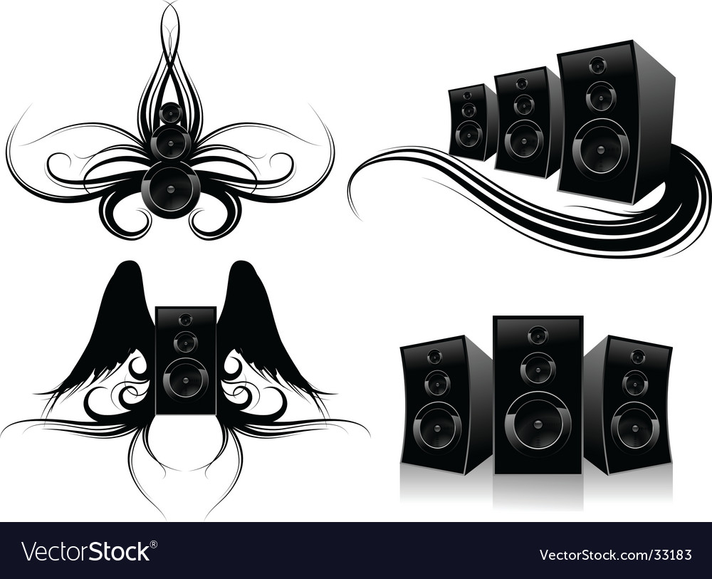 Design elements for music art vector