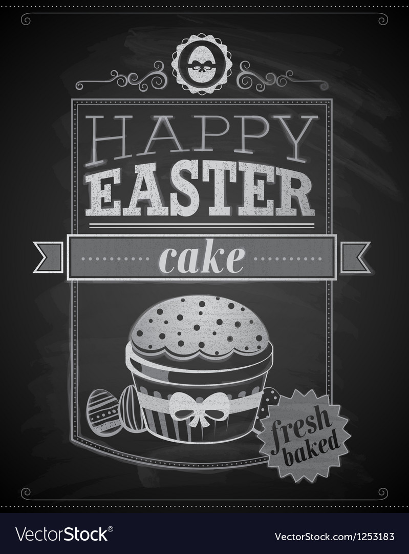 Easter cake textured vector