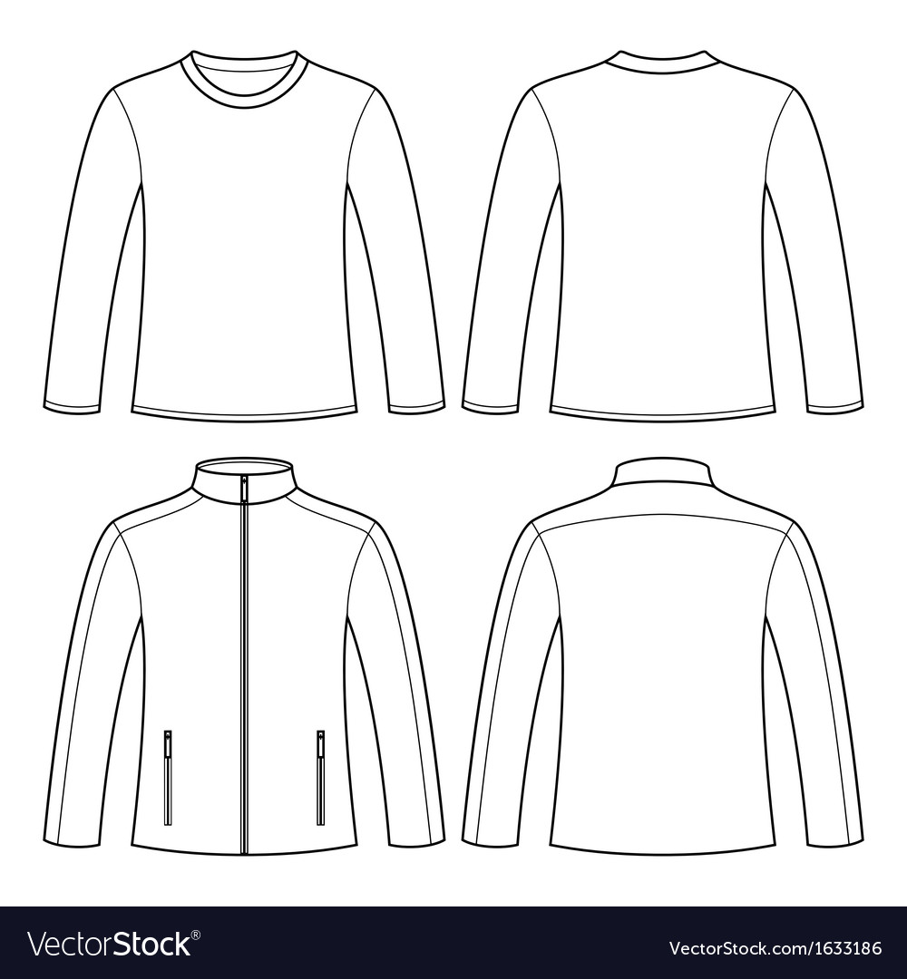 Jacket and longsleeved tshirt vector