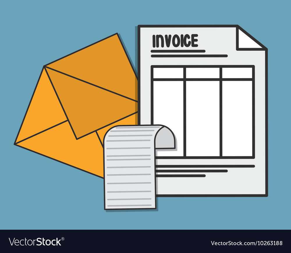 Document envelope paper invoice payment icon vector