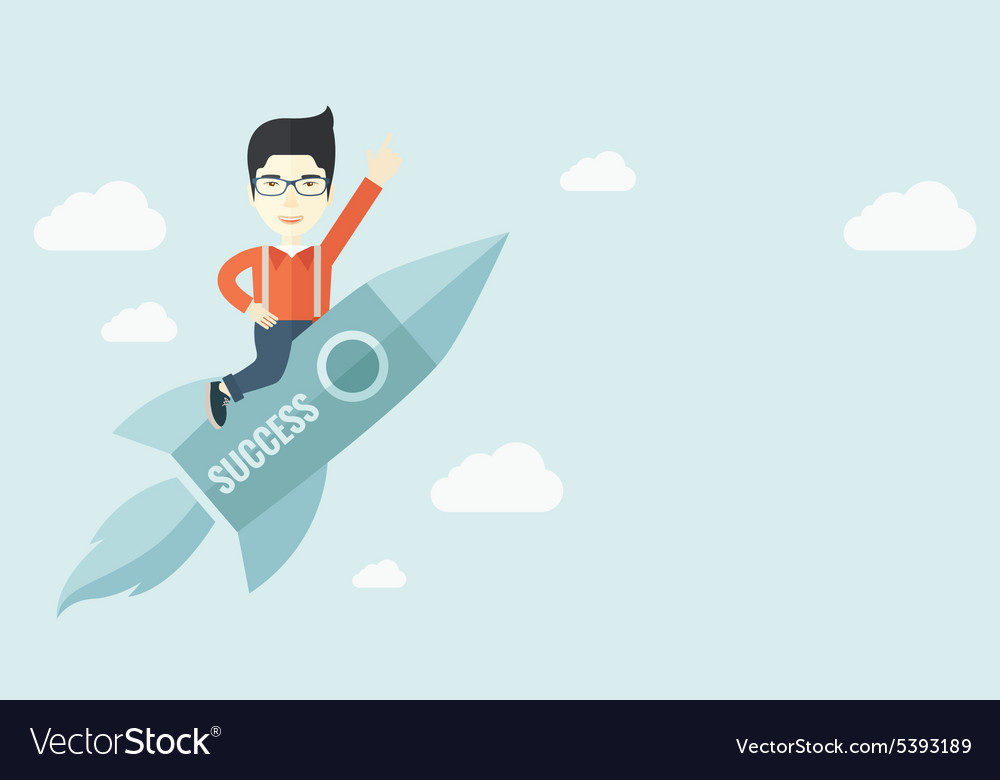 Man in startup business vector