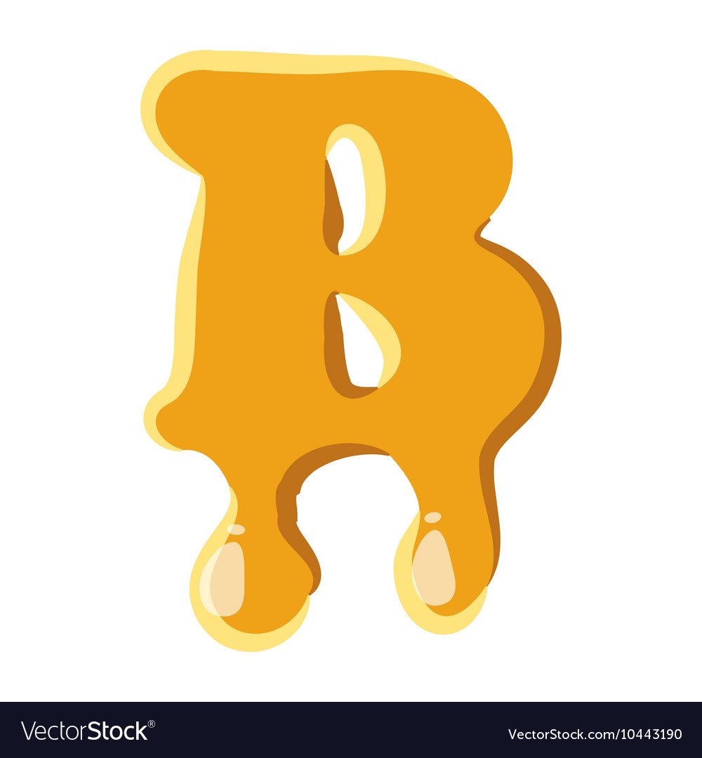 Letter b from honey icon vector