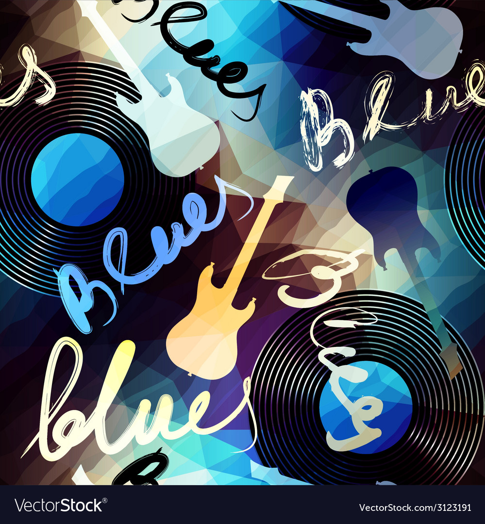 Blues music vector