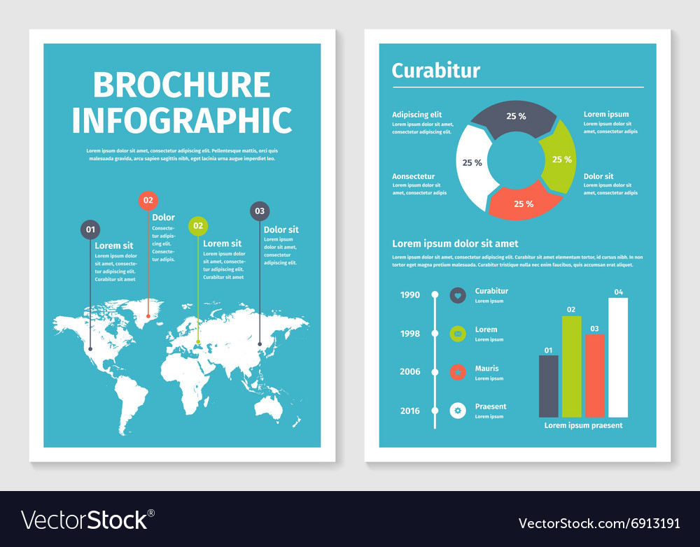 Modern business infographic brochure template 1 vector