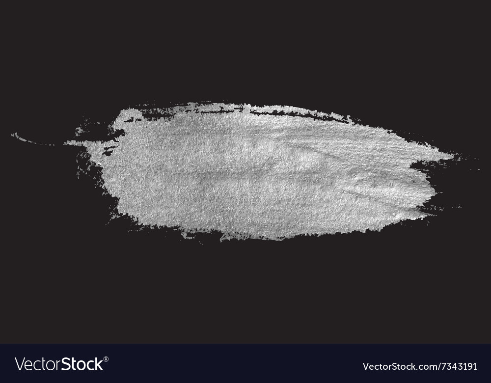 Silver stain isolated on black background vector