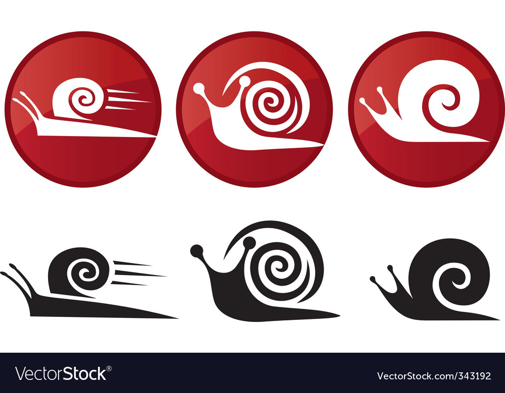 Snail silhouette icon set vector