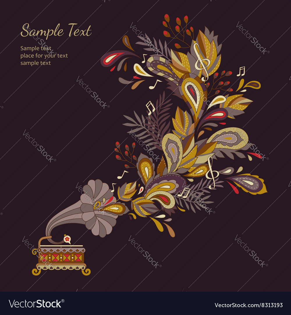 Background autumn waltz vector