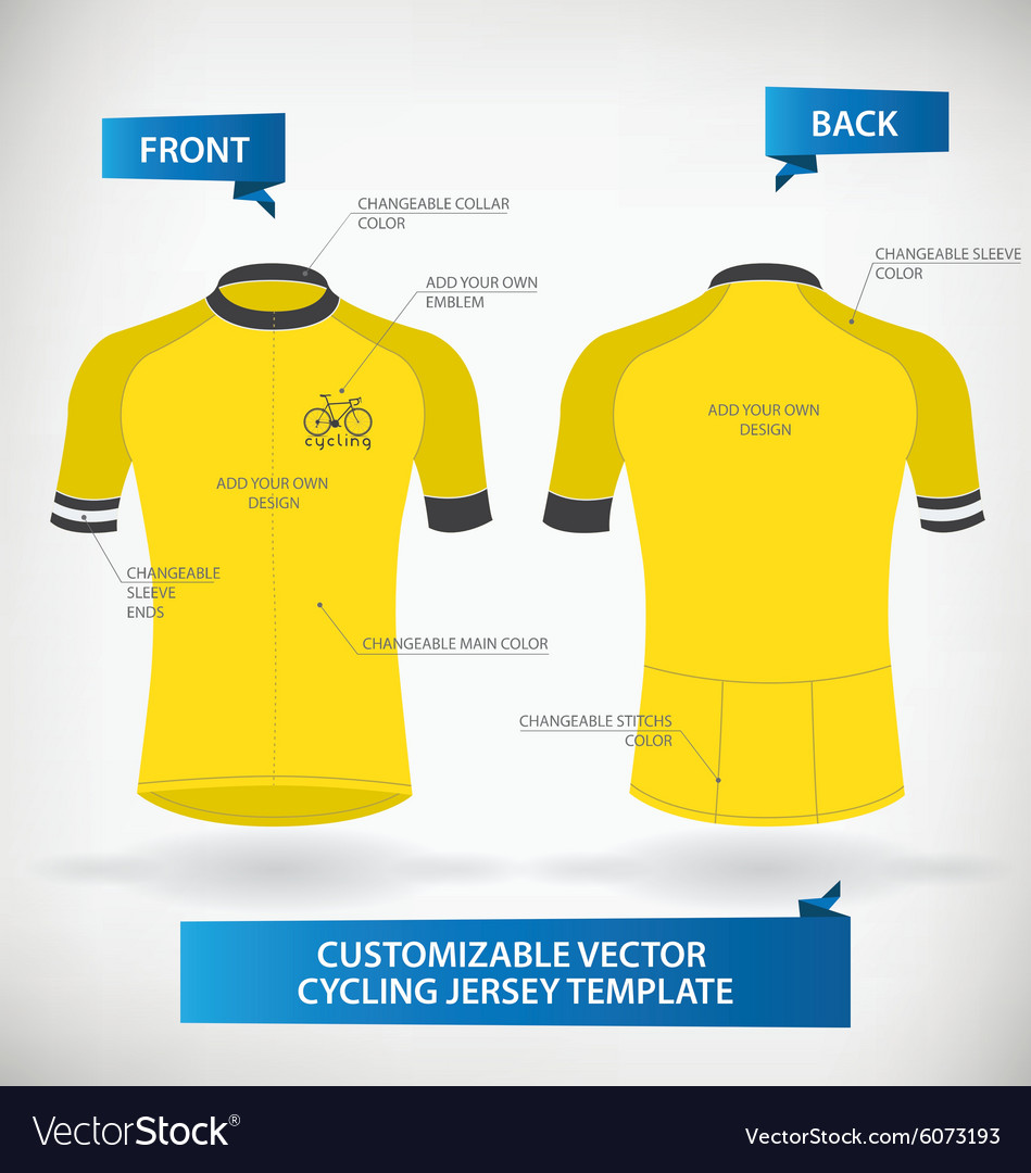 Cycling jersey template vector