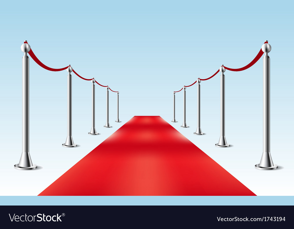 Red carpet isolated vector
