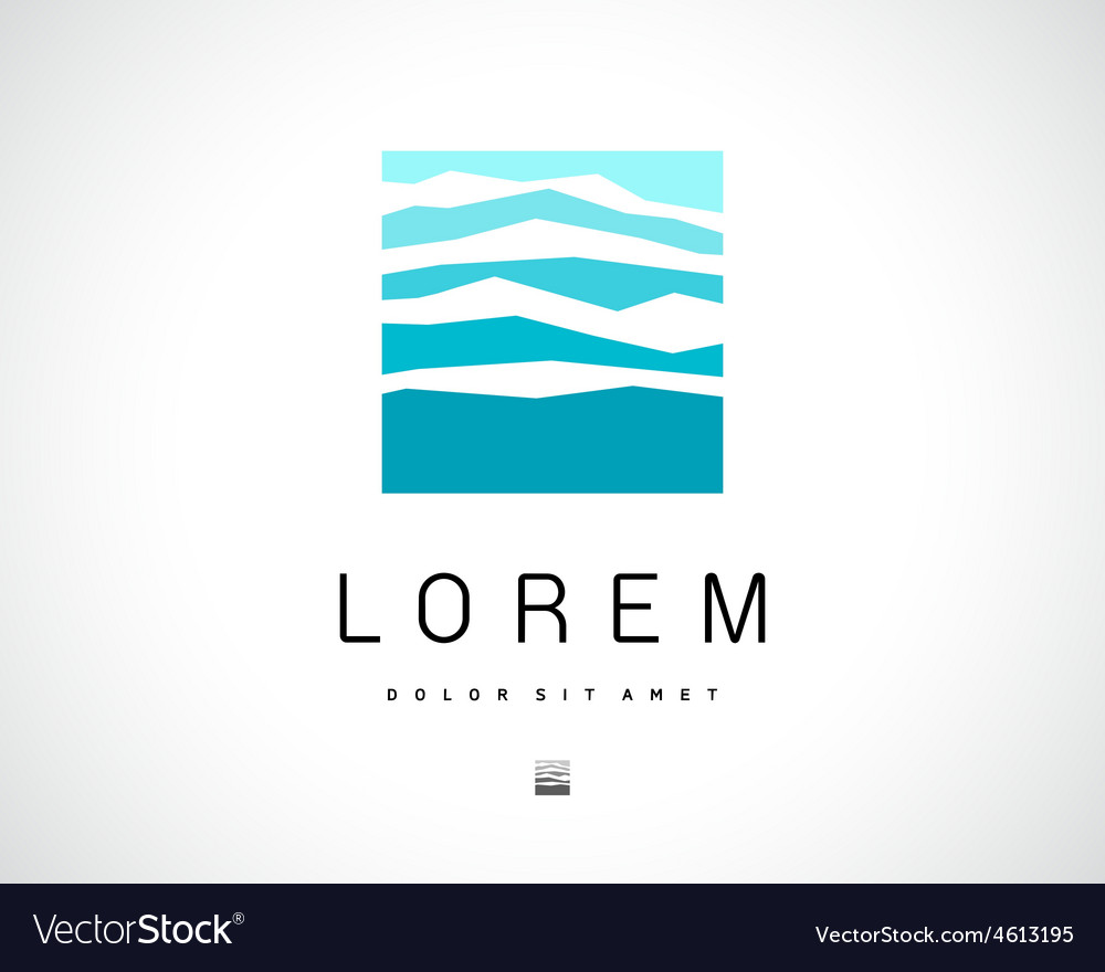 Abstract logo mountain design template vector