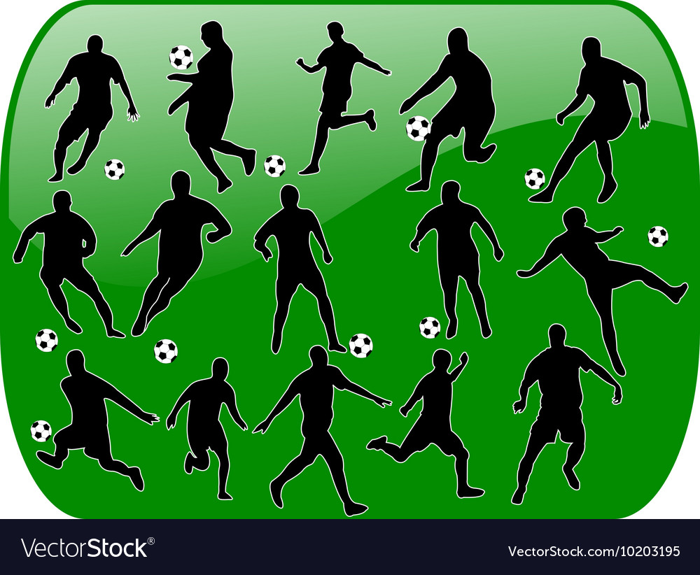 Soccer button vector
