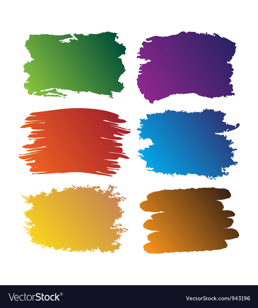Brush blot vector