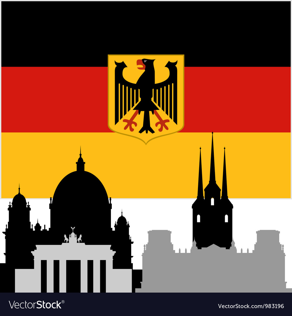 German architecture vector