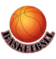 Logo design with basketball vector image vector image