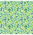 flowers and plants - seamless pattern vector image vector image