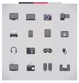 Electronics icon set vector image vector image