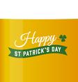 saint patrick beer background vector image