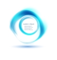 abstract circle blue curve vector image vector image