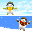 snowman character vector image