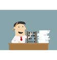 Accountant or businessman using an abacus vector image