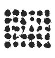 black ink blots collection vector image